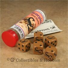 NEW Scorpion Family Dice Game in Tube 6 Sided Animal Travel