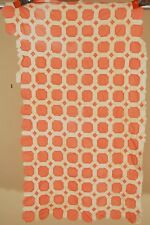 Hand Pieced Vintage 30's Snowball Patchwork Antique Crib Quilt Top ~TINY PIECES!