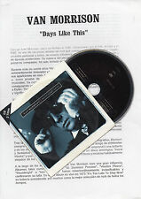"VAN MORRISON ""DAYS LIKE THIS"" RARE CD SINGLE + SPANISH PRESS DOSSIER"