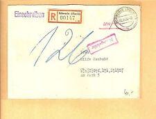 SBZ / SCHWERIN (MECKL) 22.9.53, Unfrei-E.-Brief m. viol. Ra1 Nachgebühr + Tax.