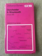 1974 Ordnance Survey First Series Map 194 Dorcehster And Weymouth (inc Evershot)