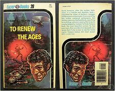 To Renew the Ages, R. Coulson Laser Books #26, 1st Ed. 1976 Vintage Sci-Fi Novel