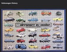 VW- Volkswagen History Different By Design VW In America Rare! Car Poster WOW!