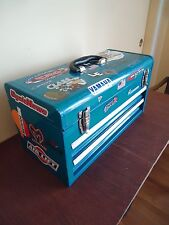Vintage  Companion 2 Drawers Metal Tool Box Blue
