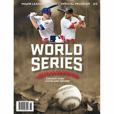 2016 CHICAGO CUBS VS CLEVELAND INDIANS WORLD SERIES OFFICIAL PROGRAM NEW