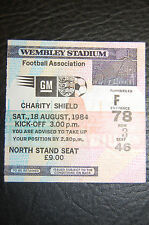 TICKET 1984 CHARITY SHIELD   EVERTON V LIVERPOOL