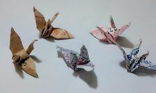 200 Origami Cranes Handcraft Paper Bird Miniature Gift Lucky Bus Tickets Collect