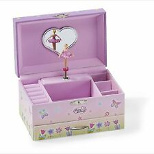 Kids Girls Pink Fairy Butterfly MUSICAL JEWELLERY BOX Music Chest - LUCY LOCKET