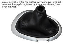 GREY STITCHING FITS NISSAN JUKE 2010-2013+ LEATHER GEAR GAITER ONLY