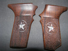 Tokarev TT33 Fine Black Walnut Checkered Pistol Grips w/US.Safety Relief & Logo