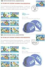 UNITED NATIONS 1998 PEACE KEEPING  LOT 5 FIRST DAY COVERS & SHOW CARDS