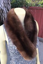 "Real Russian Barguzin Sable Fur 36"" Stole Wrap Scarf Collar Boa ZOBEL SOBOL"