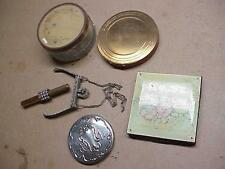 #99 LOT 6 VINTAGE VANITY COMPACTS GORHAM POCKET MIRROR POWDER JAR PURSE FRAME &