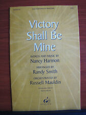 Victory Shall Be Mine - 1977 sheet music- SATB vocal, piano, guitar chords