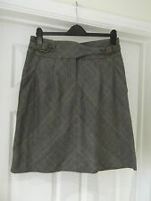 Zara Basic Tartan Skirt in Women's Size Large Brown/Red/Grey/Black Flared Style