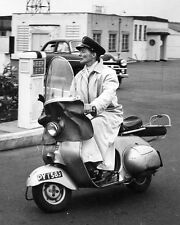 KATHARINE HEPBURN RIDES A VESPA SCOOTER IN 1956 - 8X10 PHOTO (ZZ-269)