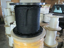 """1/2"""" X 100' Halyard sail line,anchor rope polyester double braid 8500 USA ,Black"""