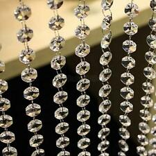 33ft/10M Wedding Decor Diamond Acrylic Crystal Beads Curtain Strand Garland Home