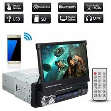7'' RETRATTILE BLUETOOTH AUTORADIO STEREO AUDIO MP5 MP4 MP3 LETTORE AUX FM RADIO
