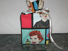 I Love Lucy pictures in squares cotton Fabric square Tissue Box Cover handmade