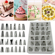 24 PCS Icing Piping Nozzles Pastry Tips Cake Sugarcraft Decorating Tool Set