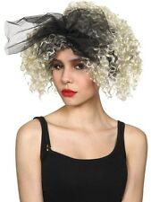 Ladies 80's Material Girl Wig Madonna Wild Child Celeb Womens Fancy Dress Party