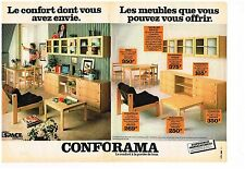 Publicité Advertising 1978 (2 pages) Les magasins Conforama