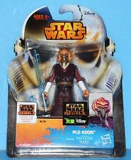 NEW Card Star Wars Saga Legends Action Figure SL16 SW Plo Koon Clone Wars