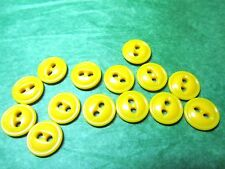 "(14) 7/16"" YELLOW PLASTIC 2-HOLE BUTTONS (N800)"