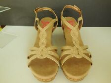 Jelly Pop Women's Natural Jute 3.5 in Cork Wedge Sandals Shoes Sz 9.5 New $50
