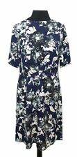 M&S Dress Size 12 Blue Floral L39in Wedding Evening