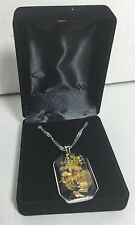 """New pendant  with 18"""" necklace in a velvet gift box"""