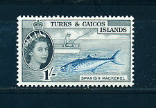 TURKS & CAICOS ISLANDS 1957-60 DEFINITIVES SG246 1s. (FISH)  MNH