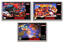 STREET FIGHTER NINTENDO SNES COLLECTION OF 3 FRIDGE MAGNETS 3 IMÁNES NEVERA