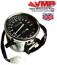 Project Cafe Racer Chopper Bobber Custom Motorcycle Bike Chrome Speedo Clock