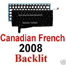 Apple MacBook Pro A1286 2008 Keyboard - CF Canadian French Backlit