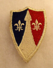 1940/50'S GERMAN EMBROIDERED US ARMY COMMUNICATION ZONE EUROPE CUT EDGE
