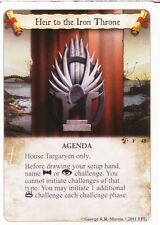 3 x Heir to the Iron Throne AGoT LCG Game of Thrones Queen of Dragons 48