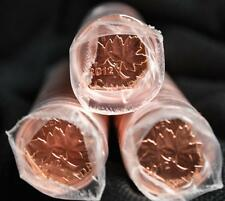 3 Rolls of 2012 Canada Pennies - Non-Magnetic - Original clear mint wrap