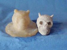 1 SMALL HORNED SKULL MOLD/MOULD 35 mm x 32mm MADE FROM LATEX RUBBER