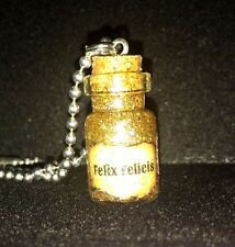 Felix Felicis Liquid Luck Potion Bottle Necklace For Fan Of Harry Potter 1ML