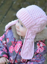 Knitting Pattern - Winterberry Earflap Hat (Toddler to Child sizes)