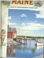 1956 Maine land of the Remembered Vacations Booklet Delta Sigma Rho association