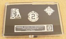 Derek Jeter NY New York Yankees lapel 3 pin retirement set pins