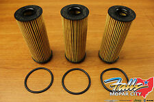 11-13 Chrysler Jeep Dodge Ram 3.6L Pentastar Oil Filter & Gasket Set of 3 OEM