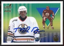 2000-01 Aurora Autographs 55 Mike Grier Auto /500