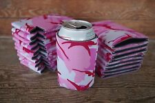 LOT of 25 PINK CAMO Can Koozies Blank Beer Soda Coolers 12 oz Printable Coolies