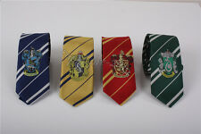 4PC Harry Potter Gryffindor Hufflepuff Ravenclaw Slytherin Necktie Tie Xmas Gift