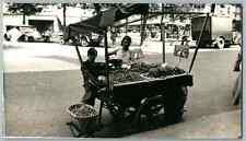 France, Paris, Marchande des quatre saisons  Vintage silver print. Postcard pape