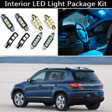12PCS Ice Blue Canbus LED Interior Lights Package kit Fit 2009-2012 VW Tiguan J1